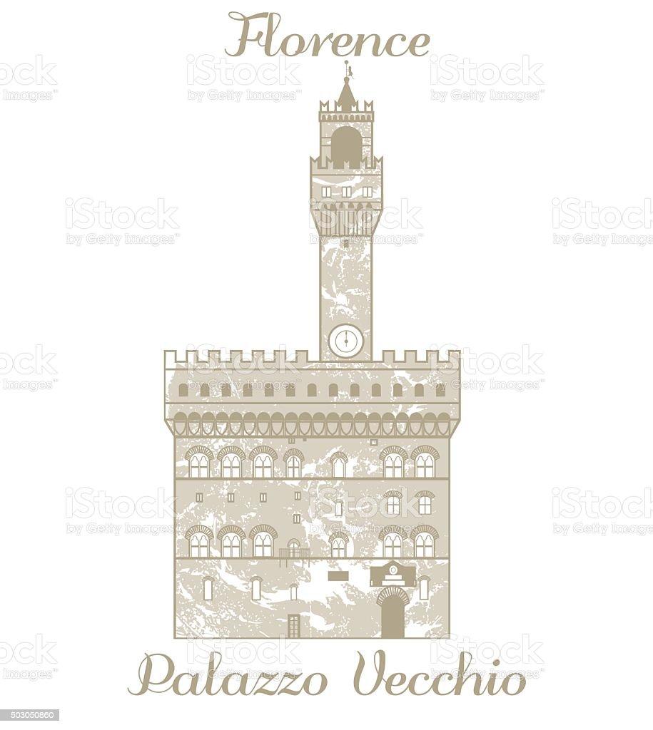 vector illustration of Palazzo Vecchio vector art illustration