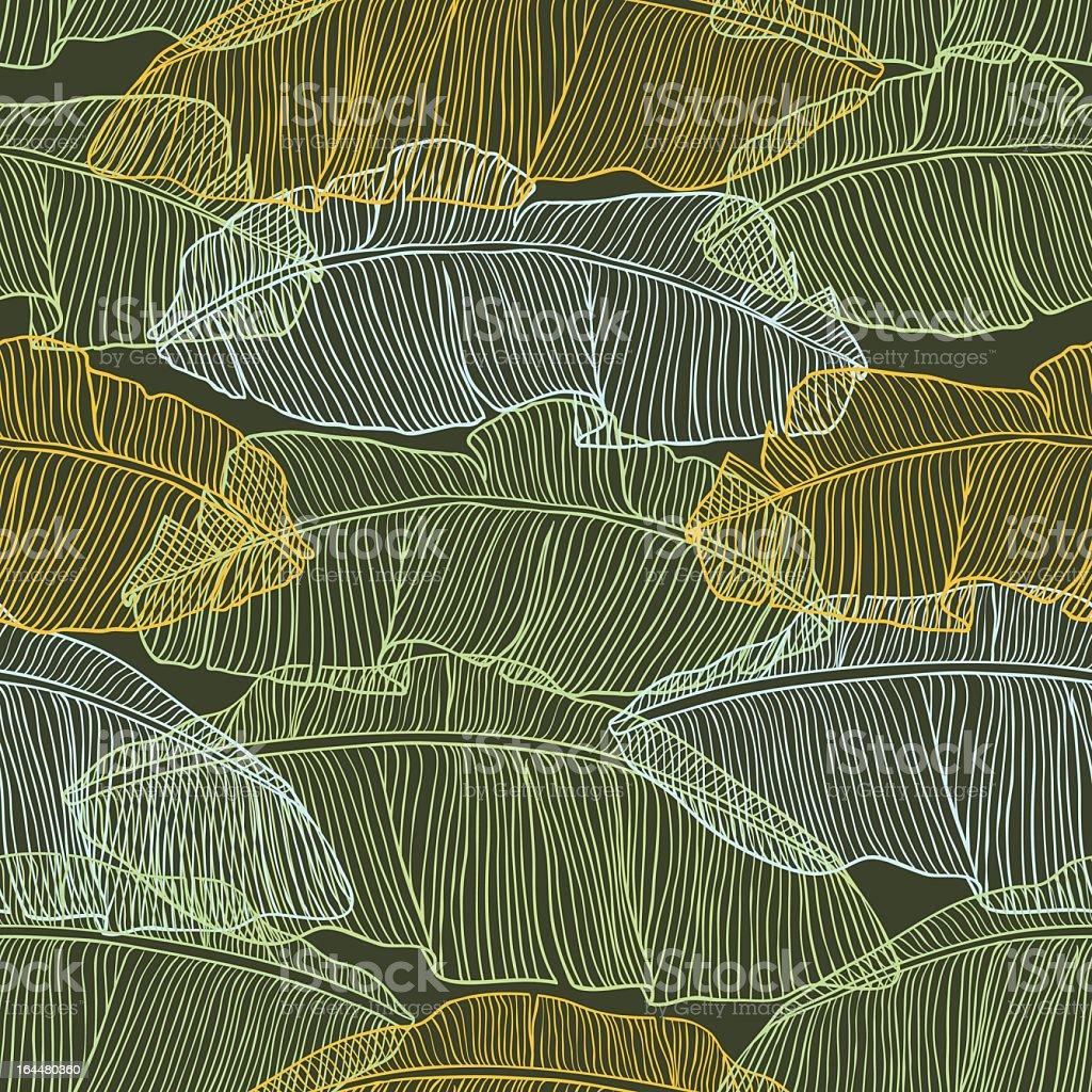 Vektor-illustration-Blätter der Palme.  Nahtlose Muster. – Vektorgrafik