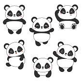 Vector illustration of panda bear.