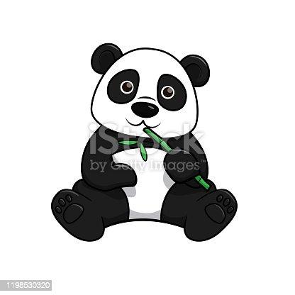 istock Vector illustration of panda isolated on white background. 1198530320