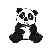 Vector illustration of panda isolated on white background.