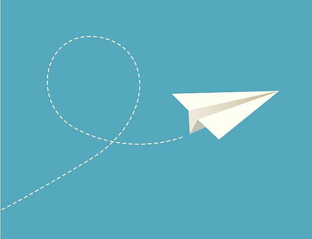 Vector illustration of paper plane. Vector illustration of paper plane. paper airplane stock illustrations