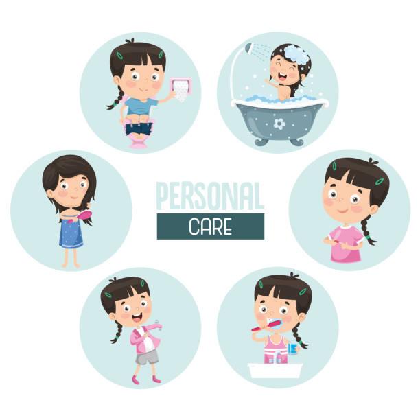 bildbanksillustrationer, clip art samt tecknat material och ikoner med vektorillustration av personlig vård - baby bathtub