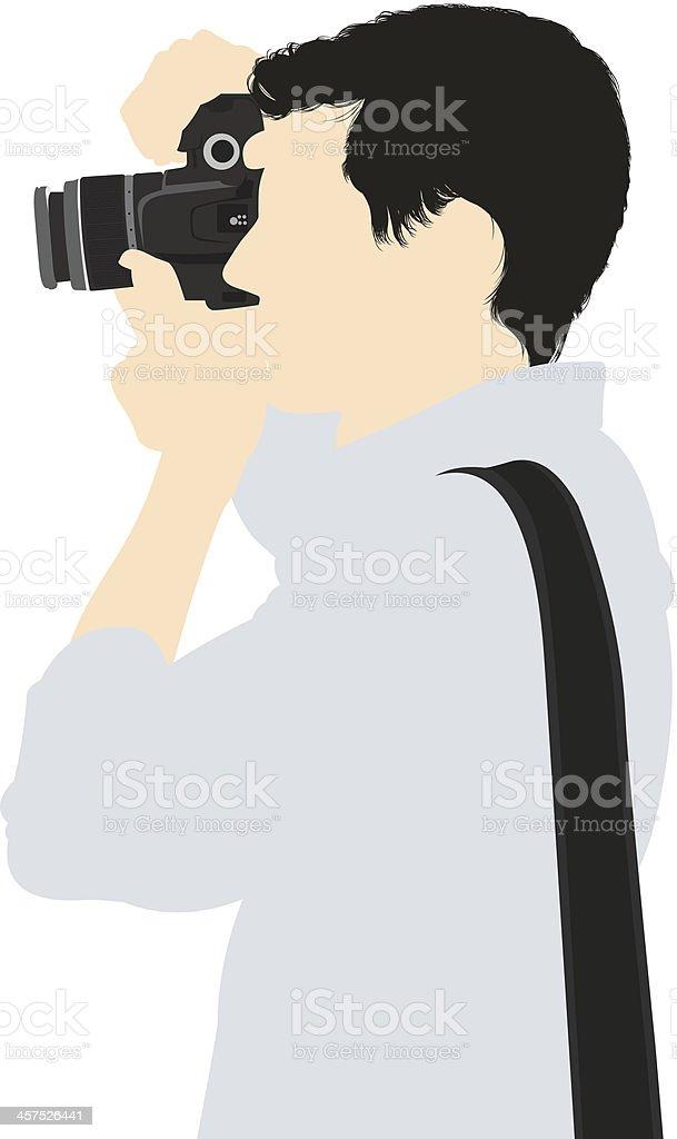 Vector illustration of photographer royalty-free stock vector art