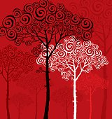 vector illustration of pine silhouette