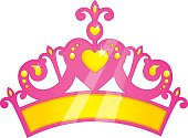 Vector Illustration Of Pink Princess Crown