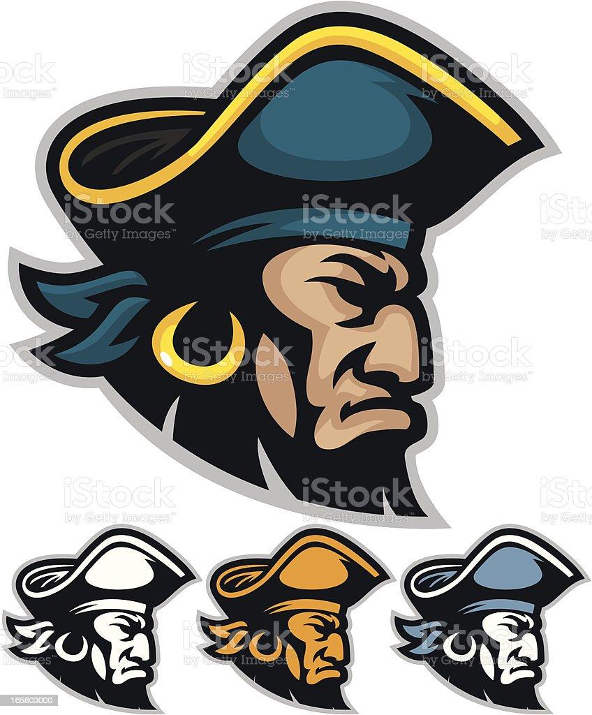 Vector illustration of pirate mascot heads vector art illustration