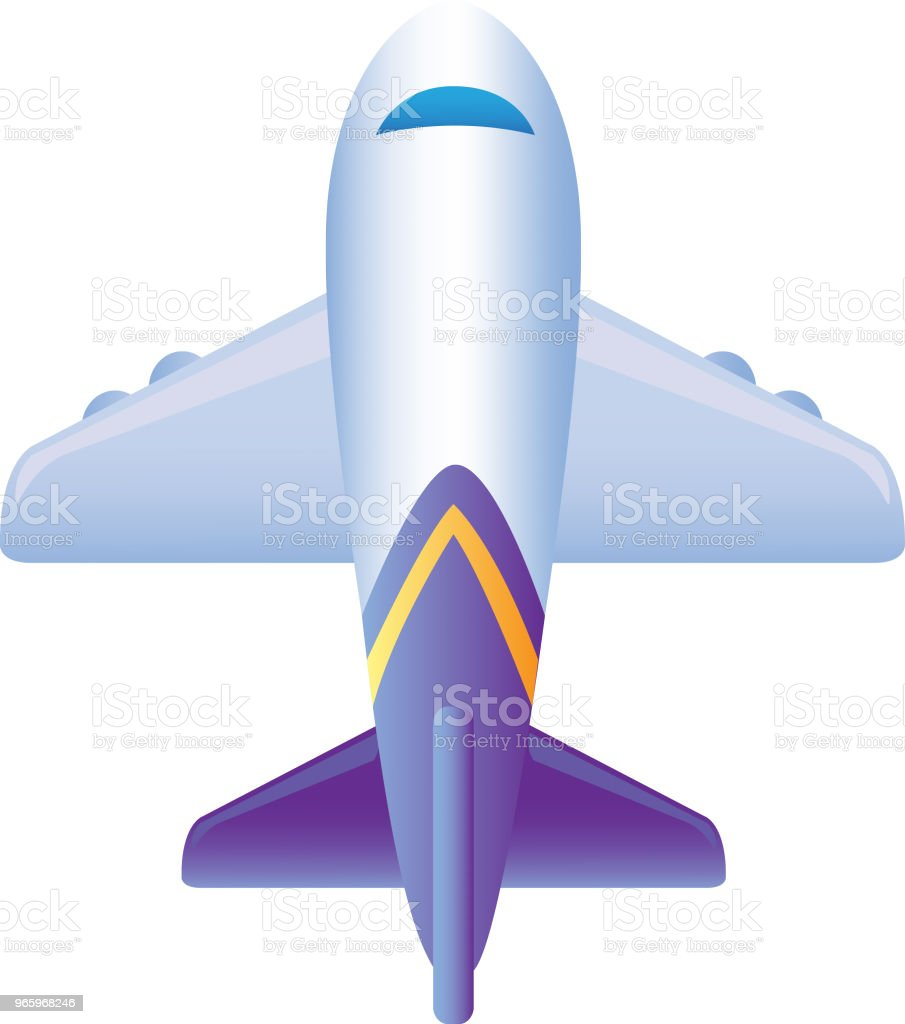 Vector illustration of  Plane - Royalty-free Air Vehicle stock vector