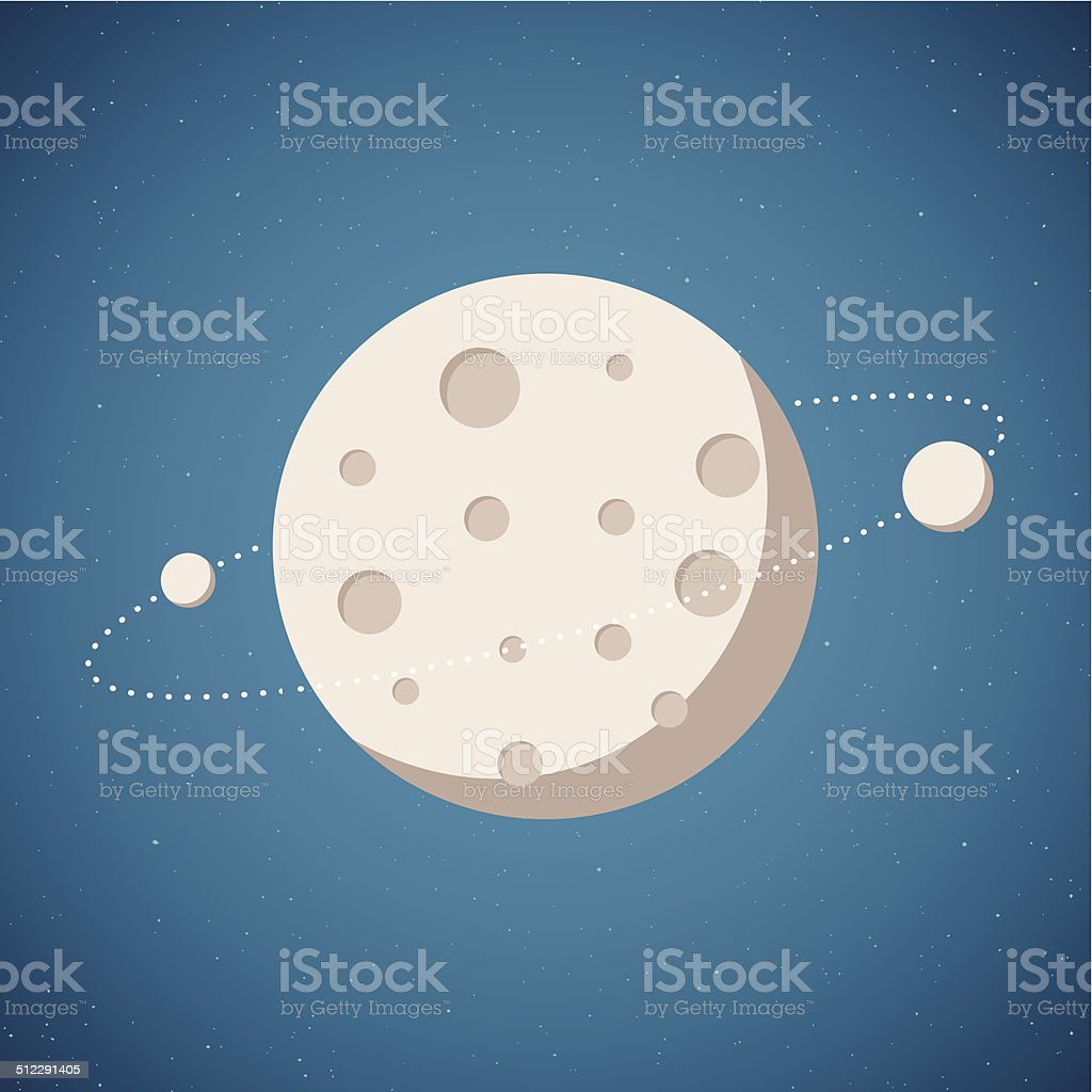 Vector illustration of planetary system vector art illustration