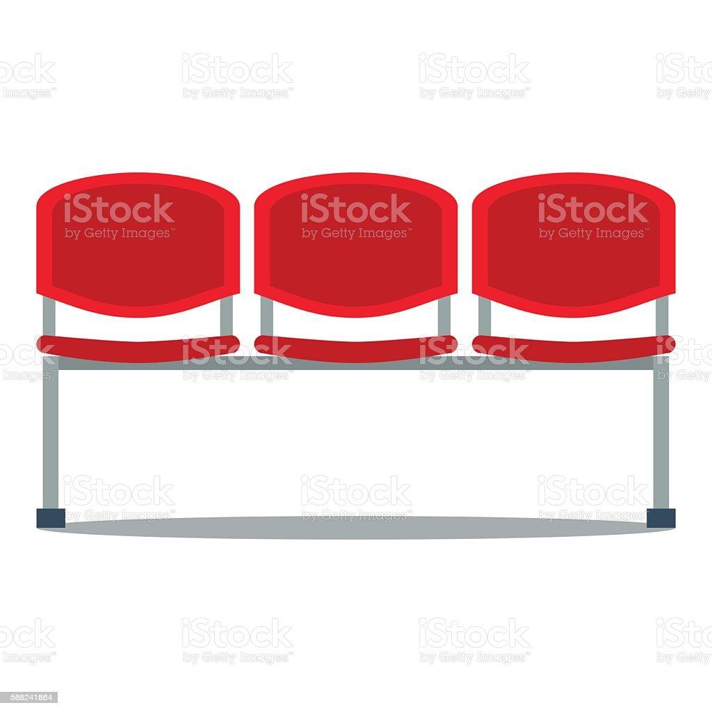 Vector illustration of plastic seat vector art illustration