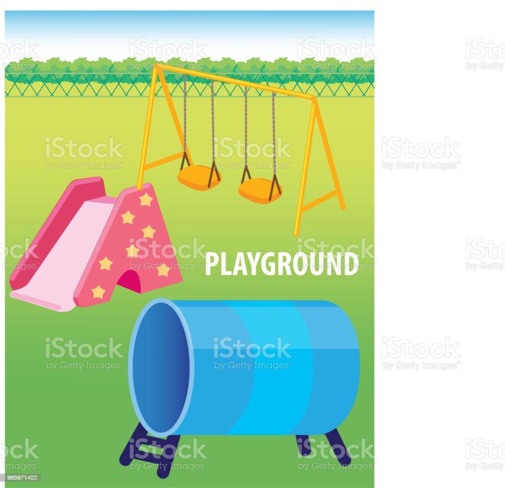 Vector illustration of Playground - Royalty-free Cartoon stock vector