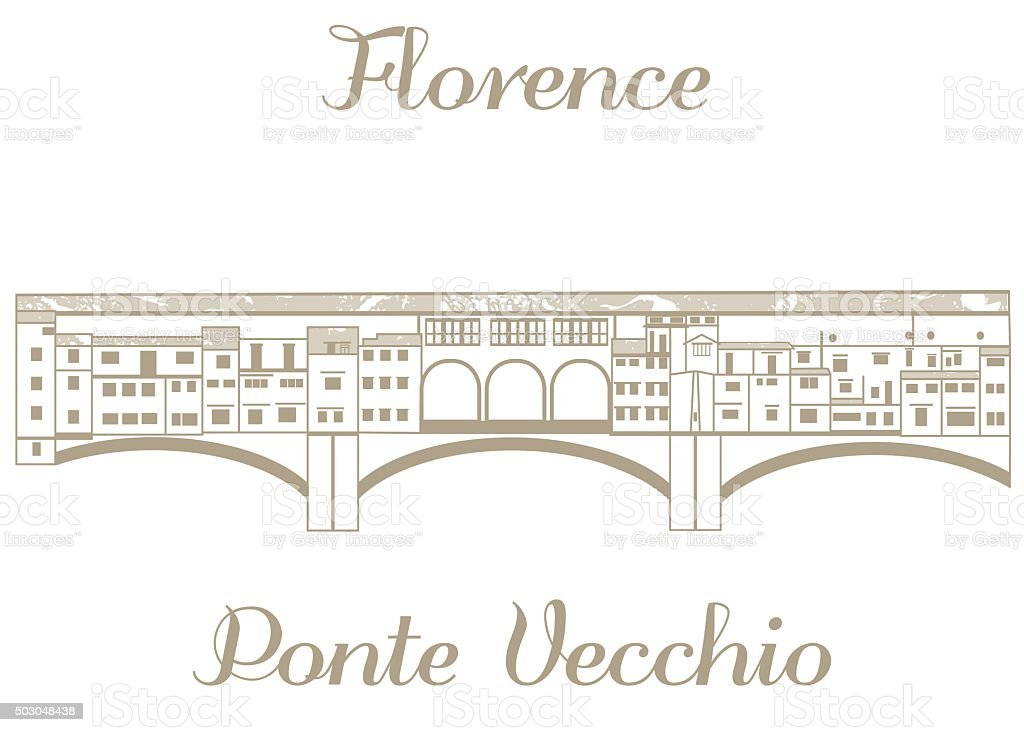 vector illustration of Ponte Vecchio vector art illustration
