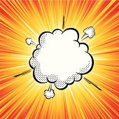 Vector illustration of pop art explosion cloud