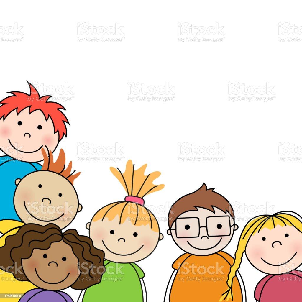 Vector illustration of preschool kids vector art illustration
