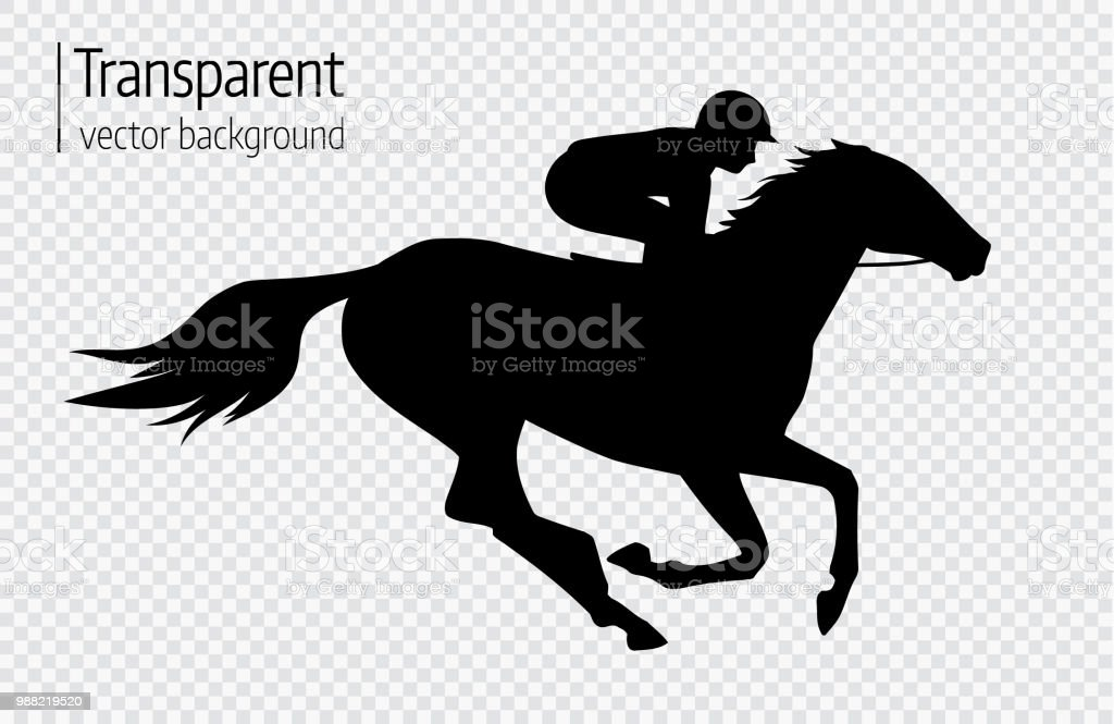 Vector Illustration Of Race Horse With Jockey Black Isolated Silhouette On Transparent Background Equestrian Competition Symbol Stock Illustration Download Image Now Istock
