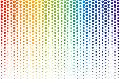 Vector illustration of rainbow polka dots background