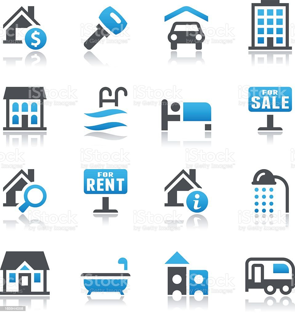Vector illustration of real estate icons royalty-free stock vector art