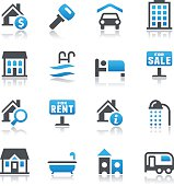Vector illustration of real estate icons