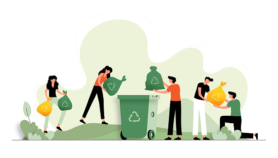 Vector Illustration of Recycling Concept. Flat Modern Design for Web Page, Banner, Presentation etc.