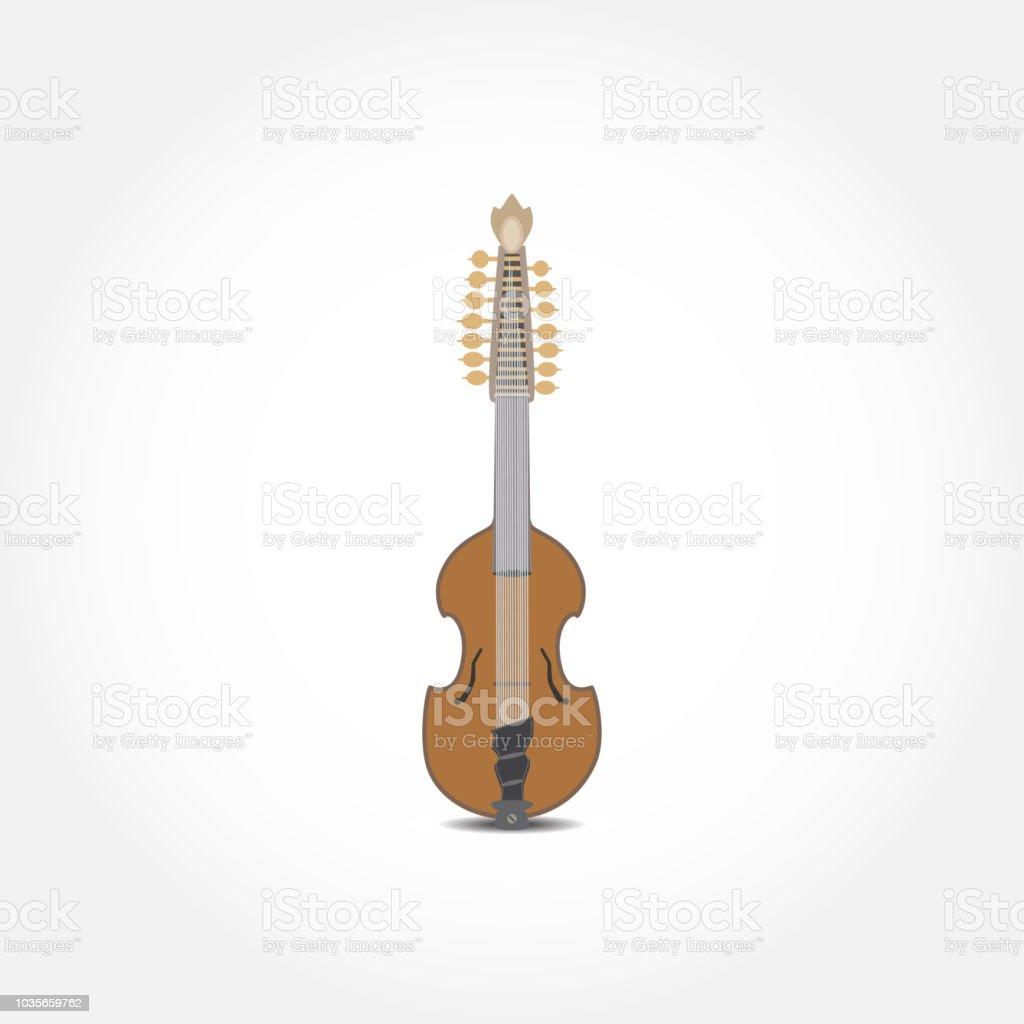 Vector illustration of resonator viola guitar vector art illustration