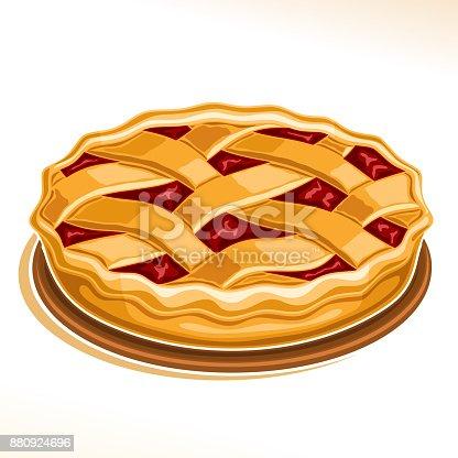 istock Vector illustration of Rhubarb Pie 880924696