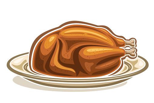 Vector illustration of Roast Turkey