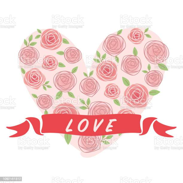Vector illustration of roses and hearts for valentines day vector id1092151312?b=1&k=6&m=1092151312&s=612x612&h=l8tmim2dhey7lrkmjsupzqj4xfs ffedjejwftzdjw8=