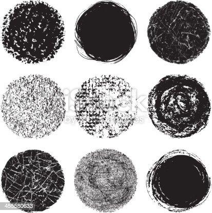 istock Vector illustration of round design elements 455580633