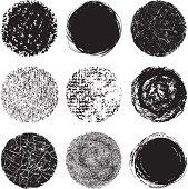 Vector illustration of round design elements