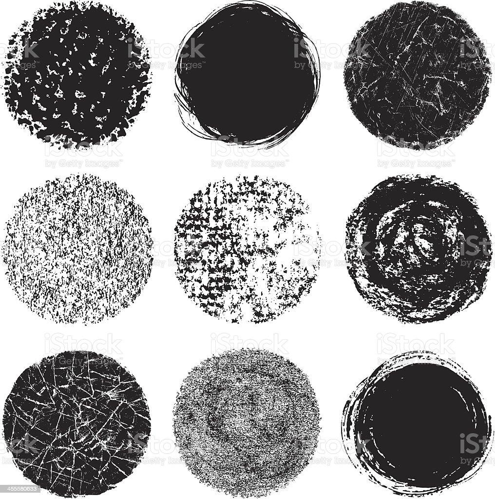 Vector illustration of round design elements vector art illustration