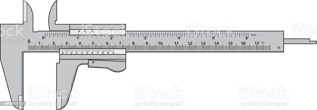 Vektor-Illustration von RulerMeasures - Lizenzfrei Bandmaß Vektorgrafik
