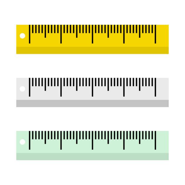 Vector illustration of rulers on white background in flat style. Vector illustration of rulers on white background in flat style. instrument of measurement stock illustrations