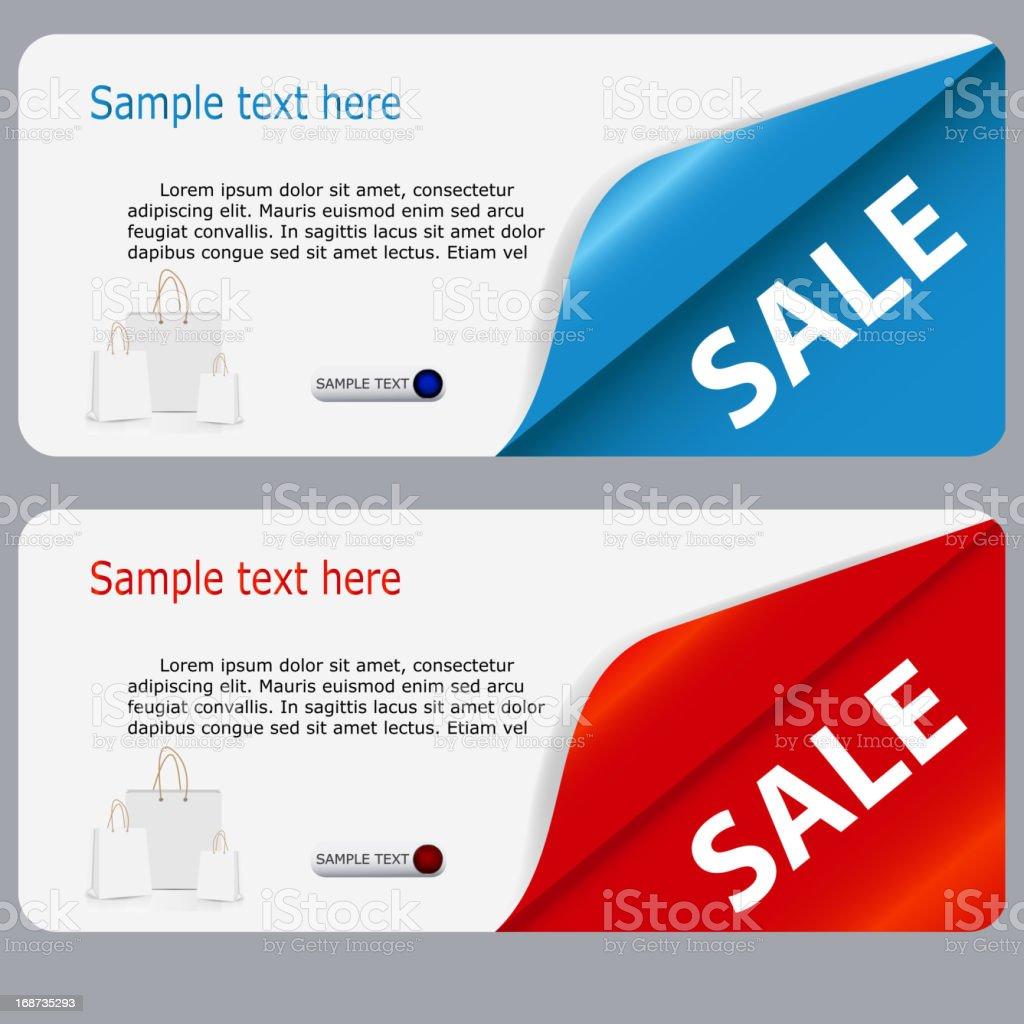 Vector illustration of sales banner royalty-free stock vector art