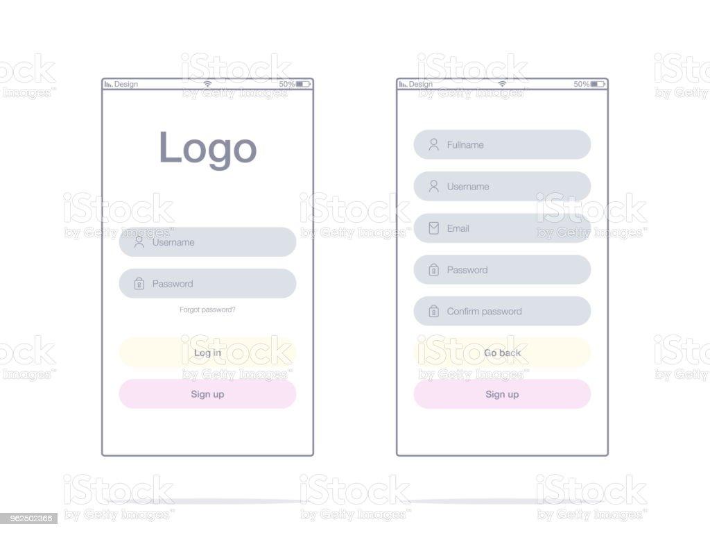 Ilustração em vetor de telas e o conceito de web - Vetor de Abstrato royalty-free