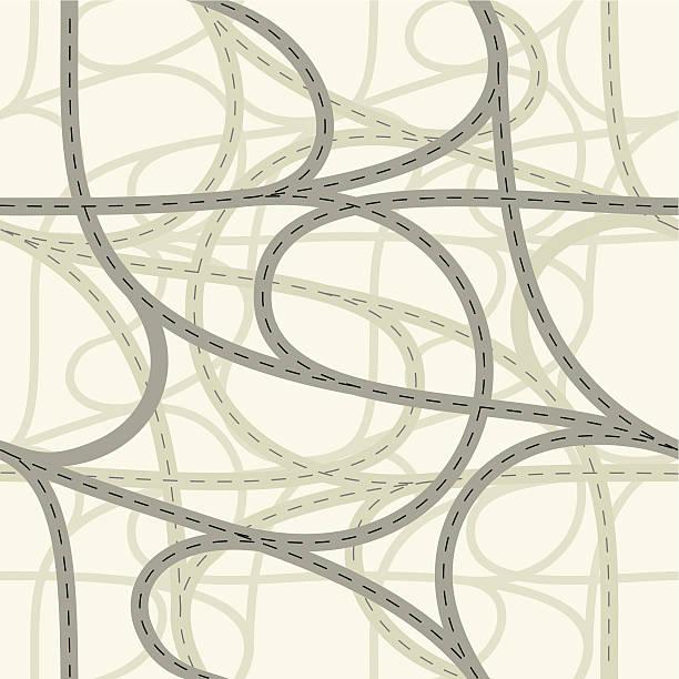 Ilustración vectorial de seamless crossroads - ilustración de arte vectorial