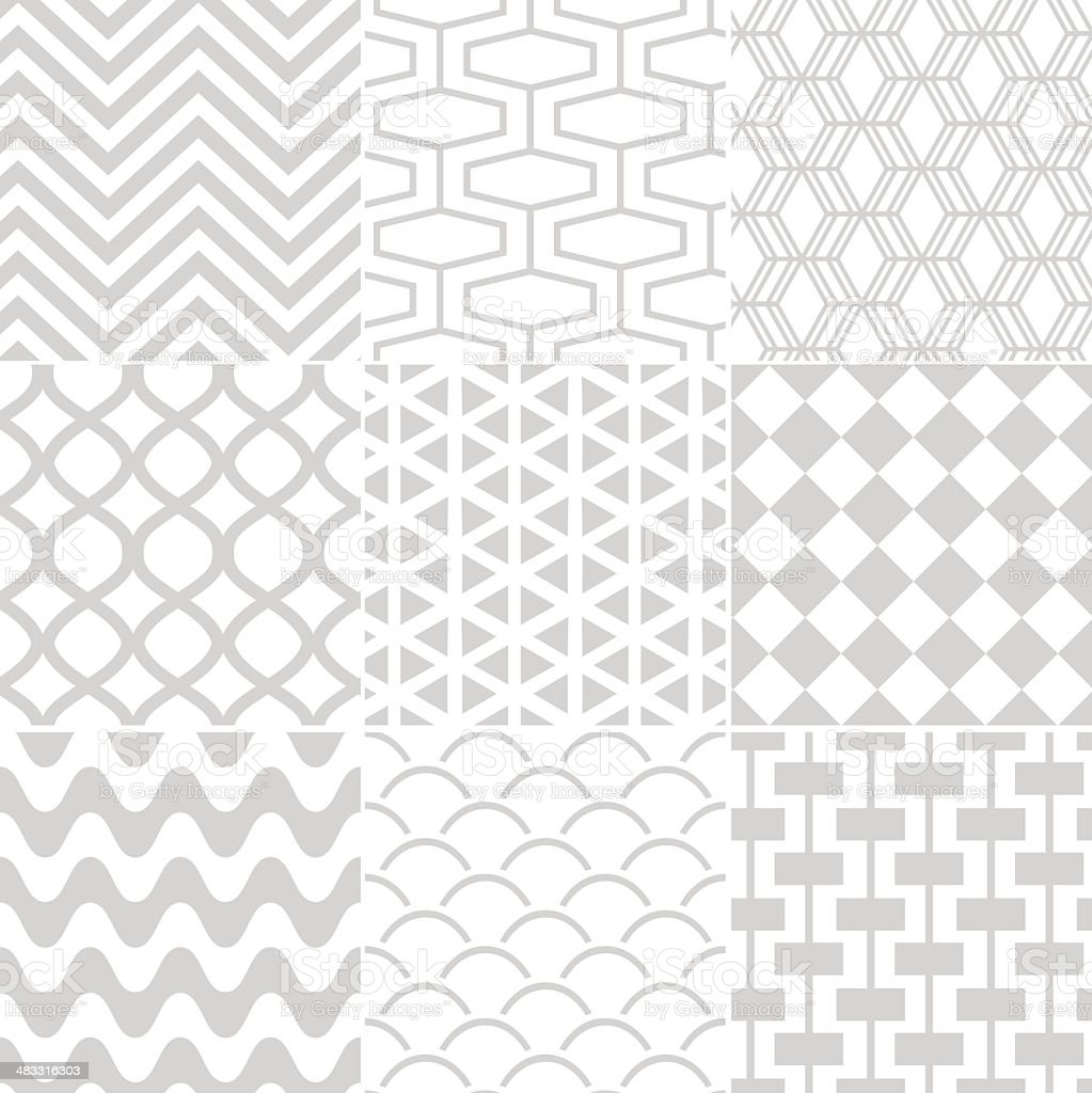 Vector illustration of seamless geometric pattern royalty-free stock vector art