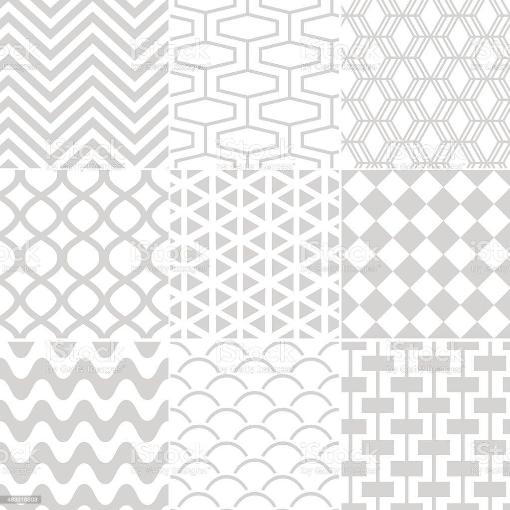 Vector illustration of seamless geometric pattern vector art illustration