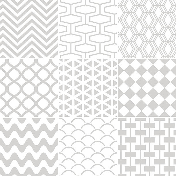 vector illustration of seamless geometric pattern - scallop stock illustrations, clip art, cartoons, & icons
