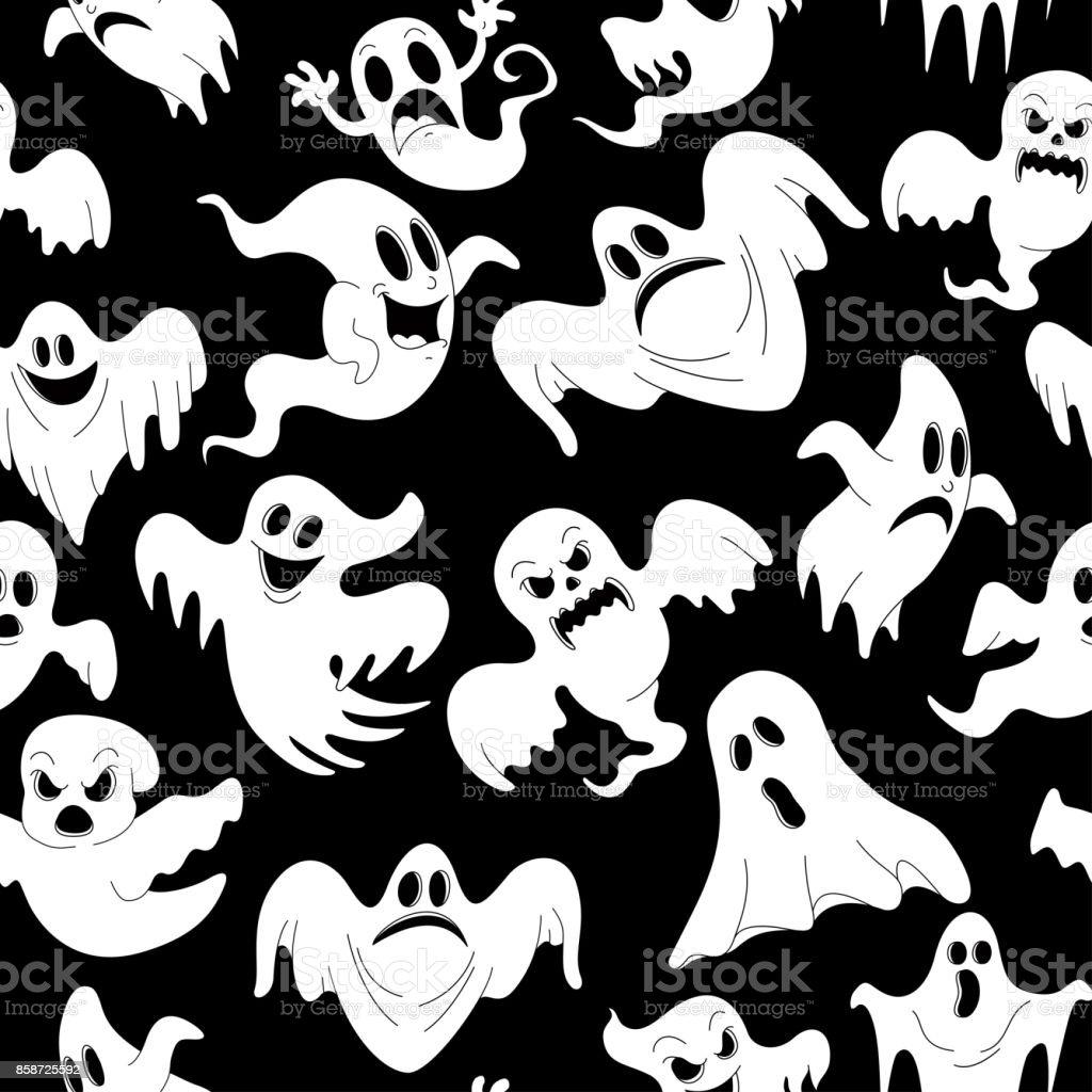 ホラー ホリデー パーティーの不気味な幽霊のハロウィーンの夜と