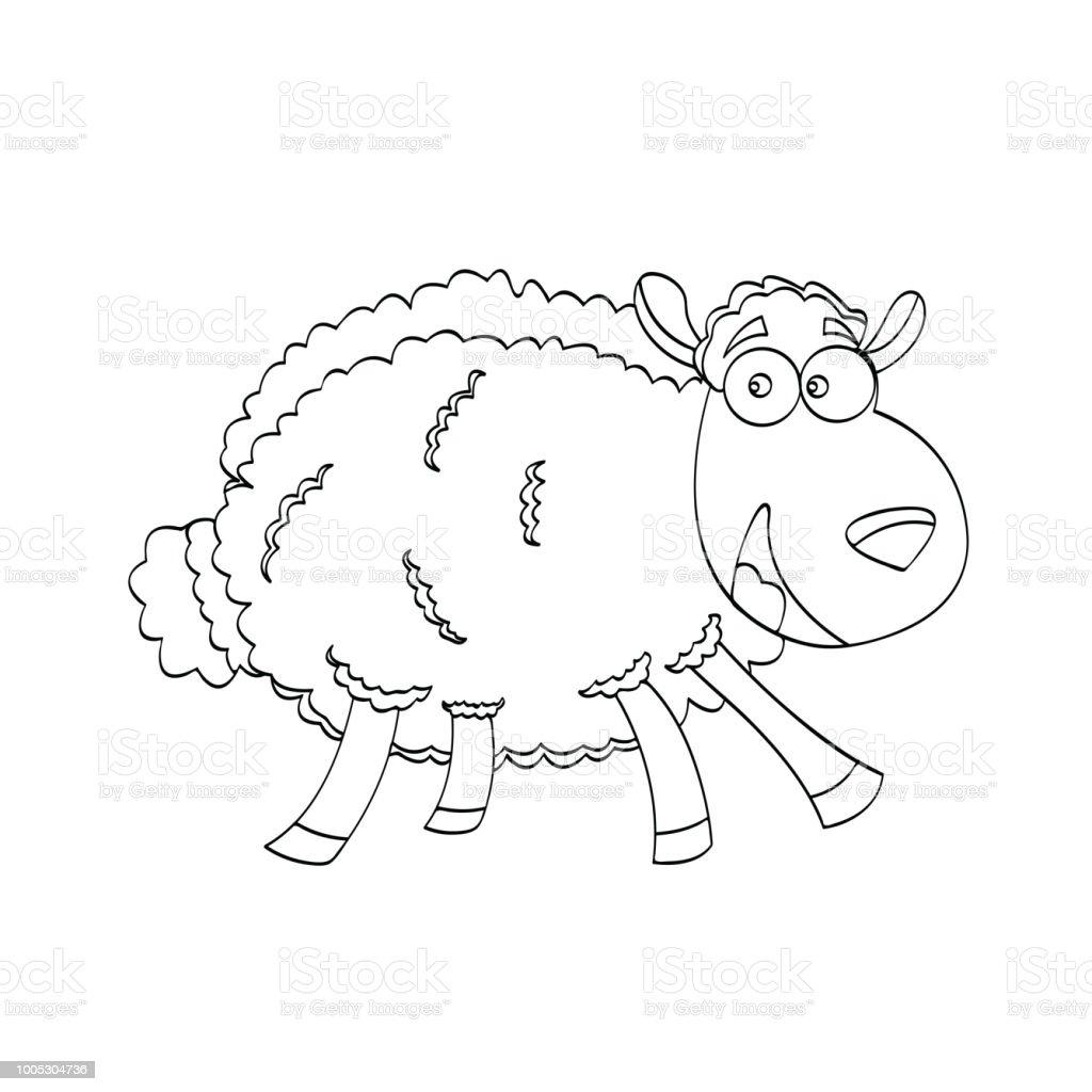 Vector Illustration Of Sheep Cartoon Animal For Kids Drawing ...