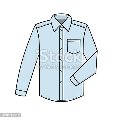 istock Vector illustration of shirt isolated on white background. 1205807269