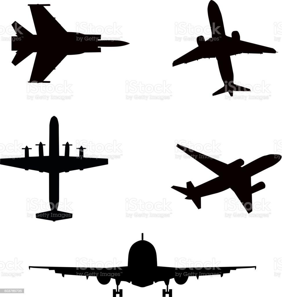 Ilustración de Ilustración Vectorial De Silueta Aviones Airbus O ...