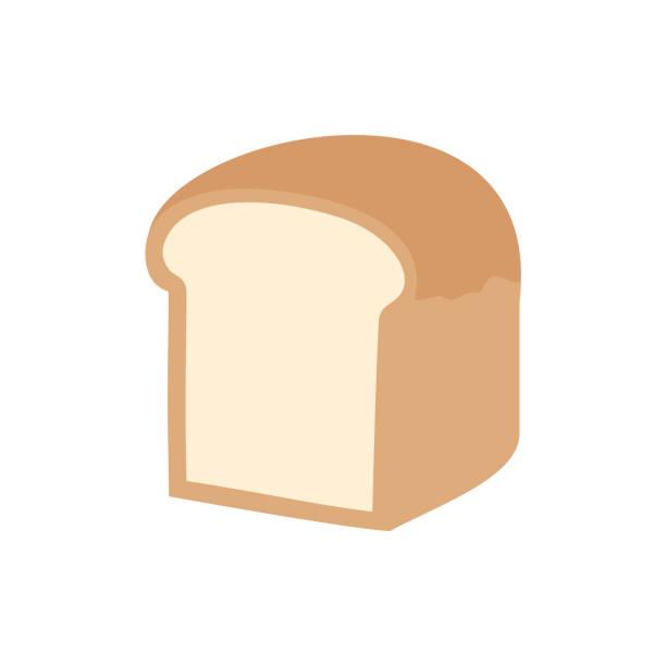 シンプルなパンのベクターイラスト - 食パン点のイラスト素材/クリップアート素材/マンガ素材/アイコン素材
