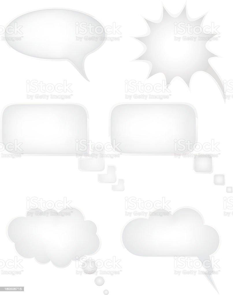 Vector illustration of six speech balloon icons royalty-free stock vector art
