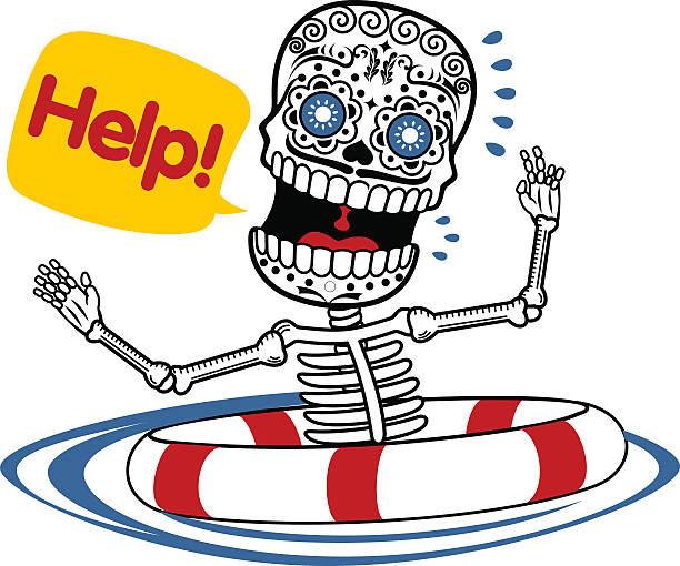 Vector Illustration Of Skeletons Art