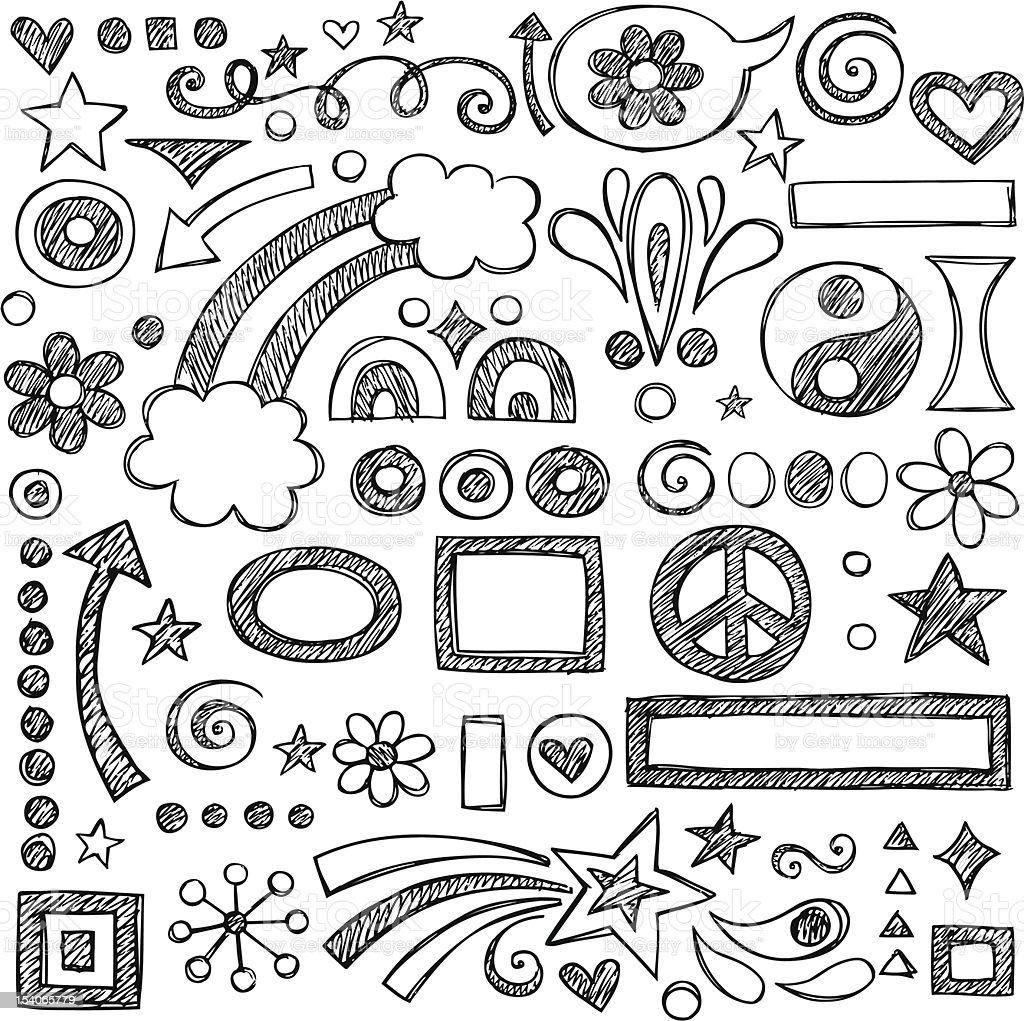 Vector illustration of sketchy doodles vector art illustration