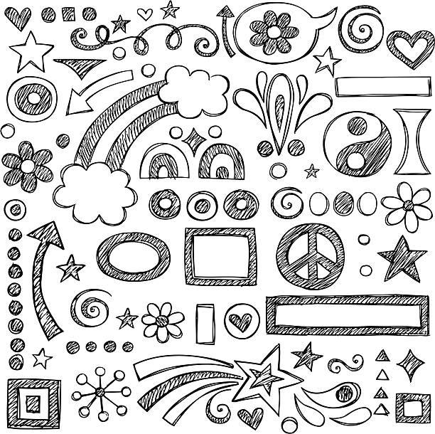 ilustraciones, imágenes clip art, dibujos animados e iconos de stock de ilustración de vectores de bocetos y garabatos - marcos de garabatos y dibujados a mano