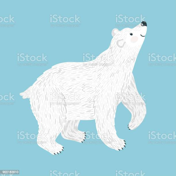 Vector illustration of smiling polar bear isolated on blue cute vector id955183610?b=1&k=6&m=955183610&s=612x612&h=bbpnfpcc6 cngistzixw6gmjfl68e9w5amo68n1r2cg=