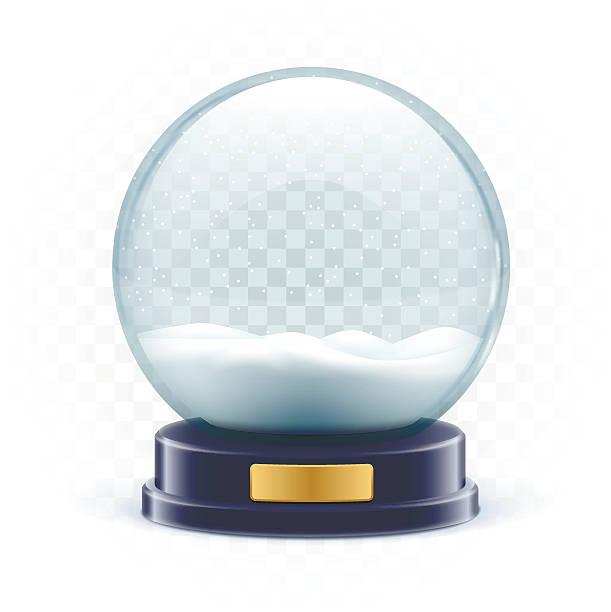 vector illustration of snow globe ball realistic new year chrism vector art illustration