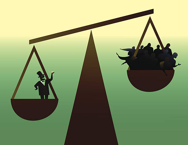 vector illustration of social disparity - wealth stock illustrations, clip art, cartoons, & icons